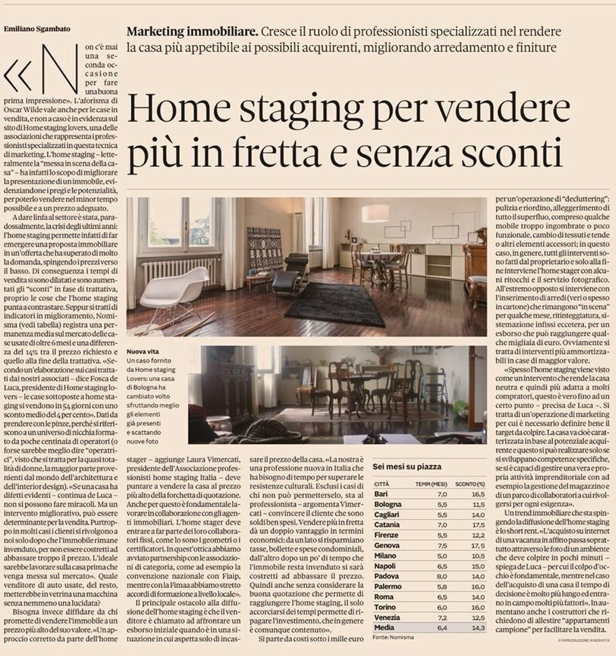 Home staging per vendere più in fretta e senza sconti